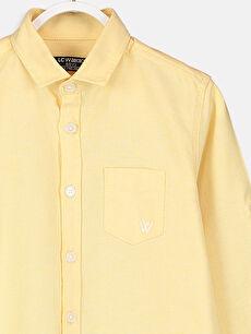 %75 Pamuk %25 Polyester Erkek Çocuk Uzun Kollu Oxford Gömlek