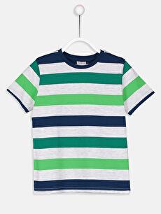 Erkek Çocuk Çizgili Pamuklu Tişört