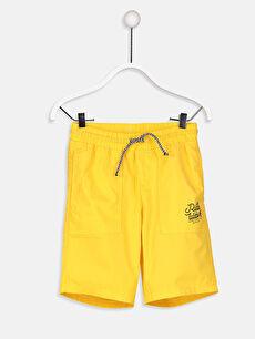 Sarı Erkek Çocuk Poplin Dokuma Bermuda 9S3300Z4 LC Waikiki