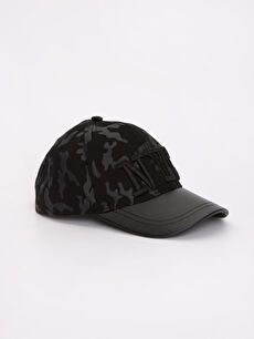 Siyah Kamuflaj Desenli Şapka 9S4497Z4 LC Waikiki