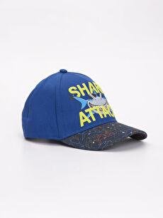 Mavi Erkek Çocuk Shark Attack Yazı Baskılı Şapka 9S4835Z4 LC Waikiki