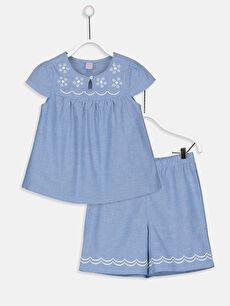 Kız Çocuk Pamuklu Pijama Takımı