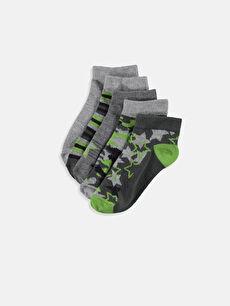 Çok Renkli Erkek Çocuk Patik Çorap 5'li 9S6309Z4 LC Waikiki