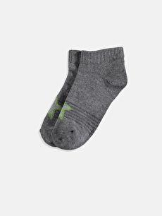 Çok Renkli Erkek Çocuk Patik Çorap 5'li