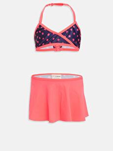 Turuncu Kız Çocuk Etekli Bikini 9S9595Z4 LC Waikiki