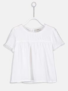 Kız Çocuk Dantel Detaylı Viskon Bluz