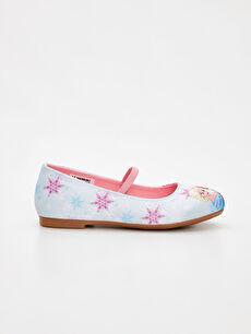 Mavi Kız Çocuk Frozen Babet Ayakkabı 9SH493Z4 LC Waikiki