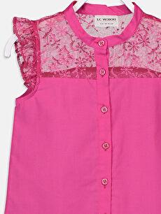 Kız Çocuk Kız Çocuk Dantelli Poplin Gömlek