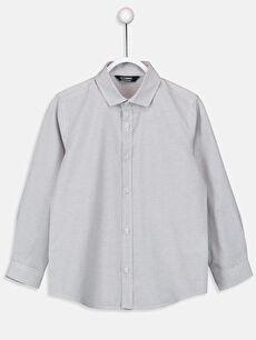 Beyaz Erkek Çocuk Ekose Poplin Gömlek 9SO722Z4 LC Waikiki
