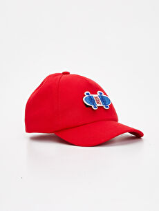 LC Waikiki Kırmızı Erkek Çocuk Pamuklu Şapka