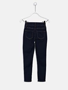 %79 Pamuk %18 Polyester %3 Elastan Aksesuarsız Ekstra Dar Paça Normal Bel Astarsız Dar Jean Düz Kız Çocuk Super Skinny Jean Pantolon