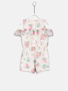%100 Polyester %100 Pamuk  Kız Bebek Dantelli Desenli Şort Salopet