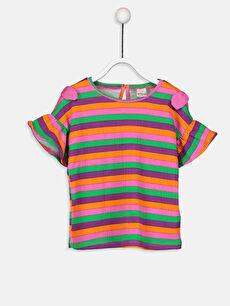 Kız Bebek Çizgili Tişört