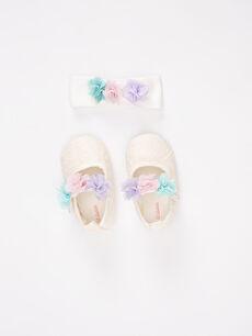 Kız Bebek Cırt Cırtlı Ayakkabı