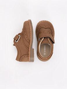 Diğer malzeme (pvc) Tekstil malzemeleri  Erkek Bebek Cırt Cırtlı Klasik Ayakkabı