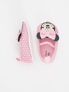 Kız Bebek Minnie Mouse Baskılı Babet Ayakkabı