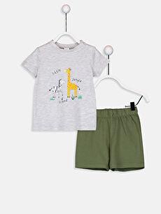 Gri Erkek Bebek Pijama Takımı 9SY370Z1 LC Waikiki