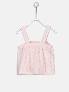 %100 Pamuk %100 Pamuk Kolsuz Bluz Baskılı Standart Kız Bebek Çizgili Bluz