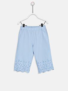 Mavi Kız Bebek Poplin Pantolon 9SA659Z1 LC Waikiki