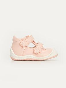 Pembe Kız Bebek İlk Adım Cırt Cırtlı Ayakkabı 9SA666Z1 LC Waikiki