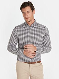 Regular Fit Ekose Uzun Kollu Gömlek