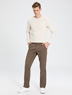 Normal Kalıp Gabardin Chino Pantolon