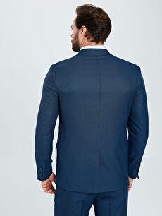 %71 Polyester %2 Elastan %27 Viskoz %100 Polyester  Standart Kalıp Desenli Takım Elbise Ceketi