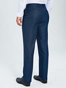 Erkek Standart Kalıp Armürlü Takım Elbise Pantolonu