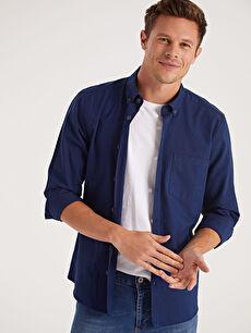 Mavi Slim Fit Uzun Kollu Oxford Gömlek 9W3240Z8 LC Waikiki