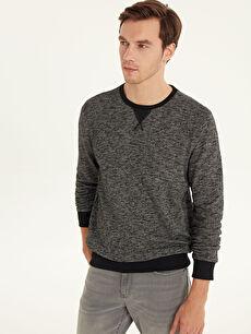 Antrasit Rahat Kalıp Basic Sweatshirt 9W3307Z8 LC Waikiki