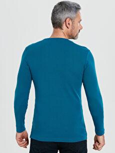 Erkek Bisiklet Yaka Basic Uzun Kollu Pamuklu Tişört