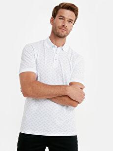 Polo Yaka Baskılı Kısa Kollu Pike Tişört