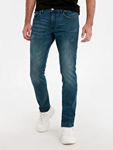 %98 Pamuk %2 Elastan Dar Beş Cep Jean 750 Slim Fit Jean Pantolon