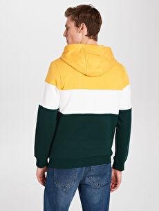 Erkek Kapüşonlu Baskılı Kalın Sweatshirt