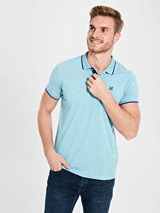 %50 Pamuk %50 Polyester Düz Standart Tişört Pike Polo Yaka Kısa Kol Polo Yaka Basic Pike Tişört