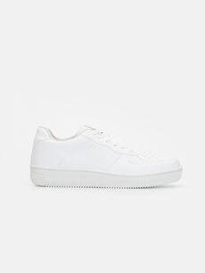 Beyaz Erkek Bağcıklı Sneaker 9WJ993Z8 LC Waikiki