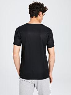 Erkek Bisiklet Yaka Baskılı Aktif Sport Tişört
