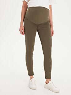 %66 Pamuk %30 Polyester %4 Elastan Pantolon Skinny Hamile Pantolon