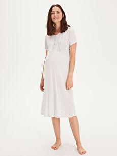 %100 Viskoz İç Giyim Viskon Hamile Gecelik