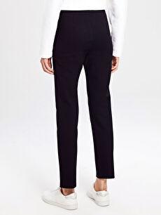 Kadın Beli Lastikli Bilek Boy Esnek Kumaş Pantolon
