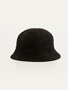 Tay Tüyü Bucket Şapka