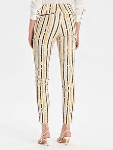 Kadın Desenli Skinny Pantolon