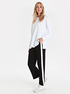 Yanları Şerit Detaylı Bol Pantolon