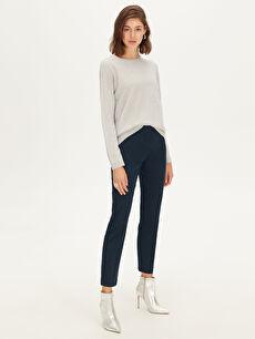 %66 Pamuk %30 Polyester %4 Elastan Normal Bel Esnek Esnek Gabardin Pantolon