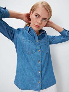 Kadın Jean Gömlek