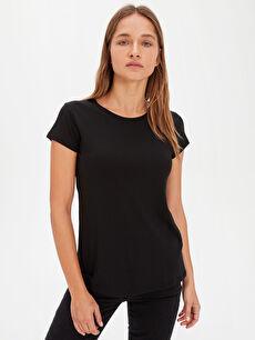 Siyah Düz Basic Tişört 9WN161Z8 LC Waikiki