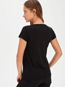 Kadın Düz Basic Tişört