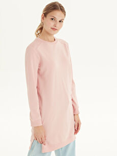 %100 Pamuk Orta Kalınlık Düz Tunik İki İplik Sweatshirt Mini Standart Düz Pamuklu Tunik