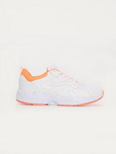 Beyaz Kadın Kalın Taban Günlük Spor Ayakkabı 9WN585Z8 LC Waikiki