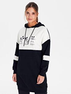 Mickey Mouse Kapüşonlu Pamuklu Sweatshirt
